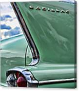 1958 Cadillac It's All In The Fin. Canvas Print