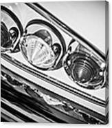 1958 Chevrolet Impala Taillight -0289bw Canvas Print