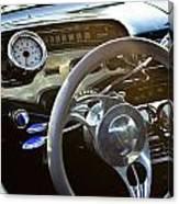 1958 Chevy Impala Dashboard Canvas Print