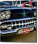 1958 Chevy Impala Front End Grill Work Canvas Print