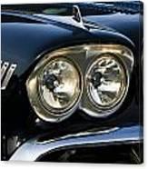 1958 Chevy Impala Headlights Canvas Print