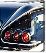 1958 Chevy Impala Tail Lights Canvas Print