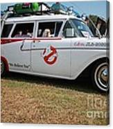 1958 Ford Suburban Ghostbusters Car Canvas Print