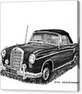 1958 Mercedes Benz 220s Canvas Print