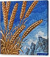 1958 San Marino Stamp Canvas Print