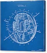 1958 Space Satellite Structure Patent Blueprint Canvas Print