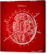 1958 Space Satellite Structure Patent Red Canvas Print
