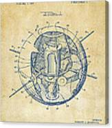 1958 Space Satellite Structure Patent Vintage Canvas Print