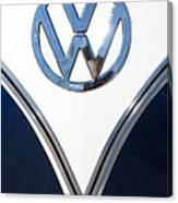 1958 Volkswagen Vw Bus Emblem Canvas Print