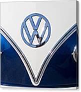 1958 Volkswagen Vw Bus Hood Emblem Canvas Print