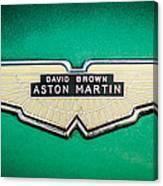 1959 Aston Martin Db4 Gt Hood Emblem -0127c Canvas Print