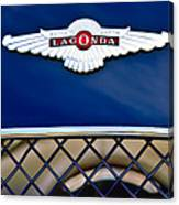 1959 Aston Martin Jaguar C-type Roadster Hood Emblem Canvas Print