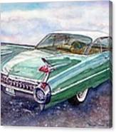 1959 Cadillac Cruising Canvas Print