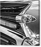 1959 Cadillac Eldorado Taillight -097bw Canvas Print