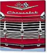1959 Chevrolet Grille Ornament Canvas Print