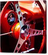 1959 Chevy Corvette Steering Wheel Canvas Print