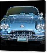 1959 Corvette Front View Canvas Print