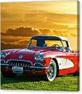 1959 Corvette Roadster Canvas Print