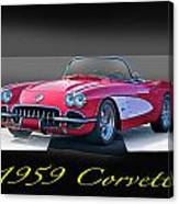 1959 Corvette Roadster II Canvas Print