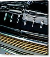 1959 Desoto Adventurer Hood Emblem Canvas Print