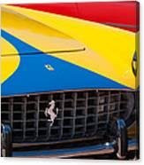 1959 Ferrari 250 Gt Coupe Grille Emblems Canvas Print