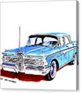 1959 Ford Edsel Ranger 4-door Sedan Canvas Print