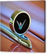 1959 Ford Thunderbird Convertible Hood Ornament Canvas Print