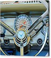 1959 Ford Thunderbird Convertible Steering Wheel Canvas Print