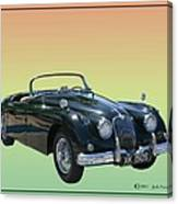 1959 Jaguar 150 S S Drop Head Coupe Canvas Print
