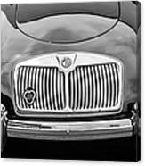 1959 Mg A 1600 Roadster Front End -0055bw Canvas Print