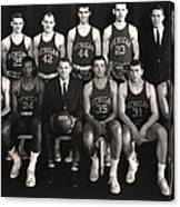 1959 University Of Michigan Basketball Team Photo Canvas Print