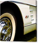 1959 White Chevy Corvette Canvas Print