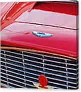 1960 Aston Martin Db4 Grille Emblem Canvas Print
