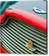 1960 Aston Martin Db4 Gt Coupe' Grille Emblem Canvas Print