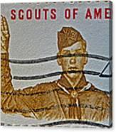 1960 Boy Scouts Stamp Canvas Print