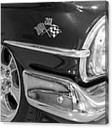 1960 Chevrolet Bel Air Bw 012315 Canvas Print