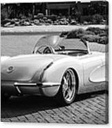 1960 Chevrolet Corvette -0880bw Canvas Print