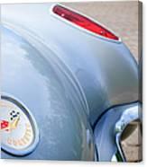 1960 Chevrolet Corvette Emblem - Taillight Canvas Print