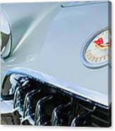1960 Chevrolet Corvette Hood Emblem Canvas Print