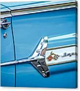 1960 Chevrolet Impala Emblem -340c Canvas Print