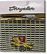 1960 Chrysler Windsor Hood Grill Canvas Print