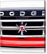 1960 Dodge Truck Grille Emblem Canvas Print