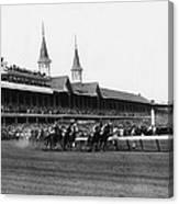 1960 Kentucky Derby Horse Racing Vintage Canvas Print