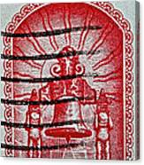 1960 Mexican Independence Stamp Canvas Print