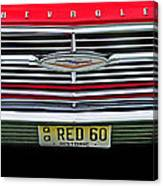 1960 Red Chevy Canvas Print