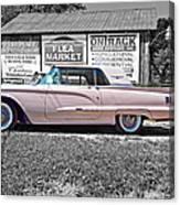 1960 Thunderbird Bw Canvas Print