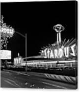1960s Night Scene Of The Stardust Canvas Print