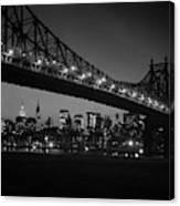 1960s Queensboro Bridge And Manhattan Canvas Print