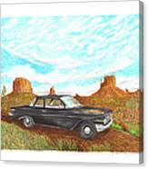1961 Chevrolet Biscayne 409 In Monument Valley Canvas Print