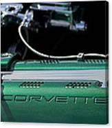 1961 Chevrolet Corvette Engine Canvas Print